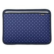 Blue Diamond Print Laptop Sleeve Macbook Air Sleeve