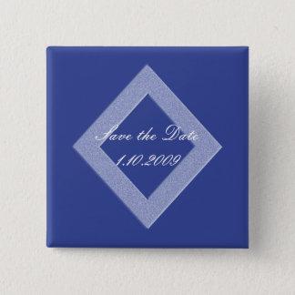Blue Diamond Save the Date Pin