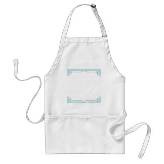 Blue Diamond Scallop Adult Apron
