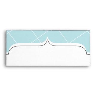 Blue Diamond Scallop Envelope
