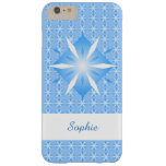 Blue Diamond Shape iPhone 6 Plus Barely There iPhone 6 Plus Case at Zazzle