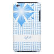 Blue Diamond Shape iPod Touch 4G case Case-Mate iPod Touch Case at Zazzle