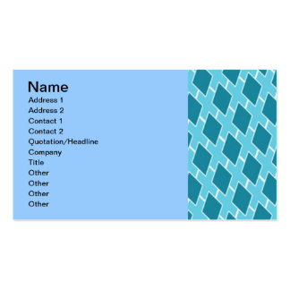 BLUE DIAMOND SHAPED XES PATTERN TEXTURE BACKGROUND BUSINESS CARDS