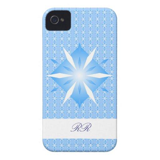 Blue Diamond Shapes Blackberry Bold Case-Mate case