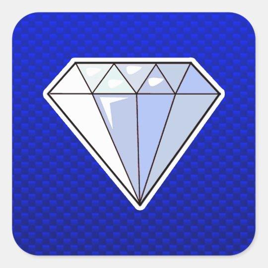Blue Diamond Square Sticker