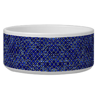 Blue Diamond Stained Glass Style Bowl