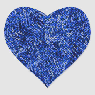 Blue Diamond Stained Glass Style Heart Sticker