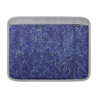 Blue Diamond Stained Glass Style MacBook Sleeve