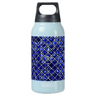 Blue Diamond Stained Glass Style Water Bottle