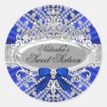 Blue Diamond & Tiara Sweet 16 Sticker