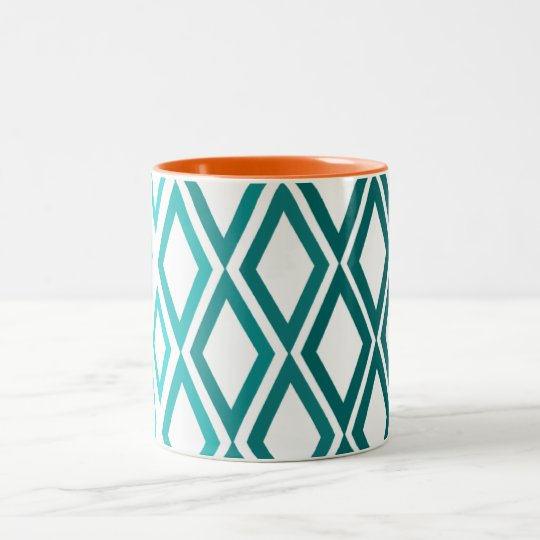 Blue Diamond Two-Tone Coffee Mug
