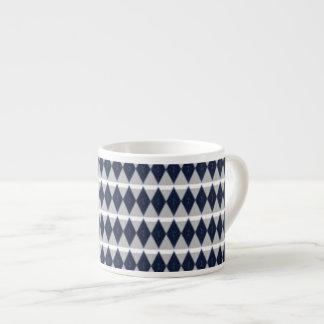 Blue Diamonds Espresso Mug 6 Oz Ceramic Espresso Cup