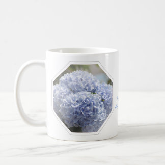 Blue Diamonds Hydrangea Flowers Coffee Mug