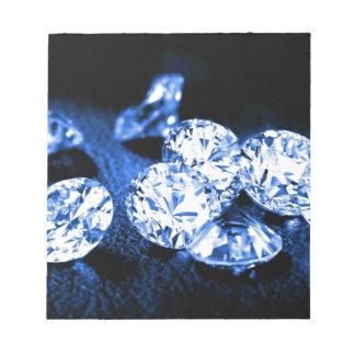 Blue Diamonds Notepad