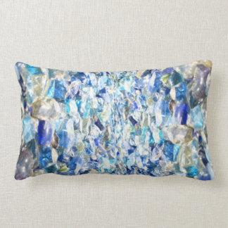 Blue diamonds throw pillows