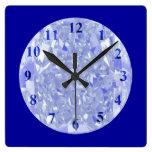 Blue Diamonds Wall Clock by Janz Square