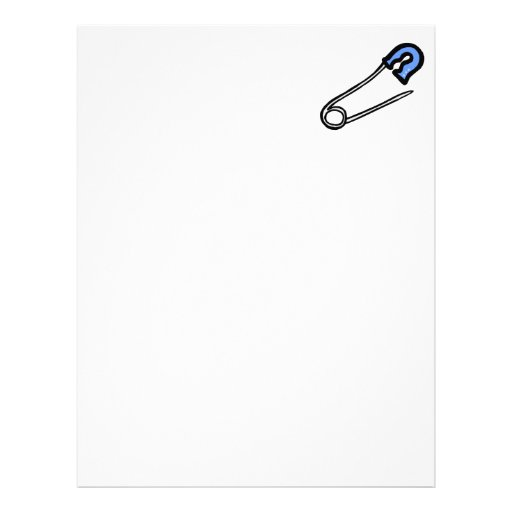 blue diaper pin letterhead