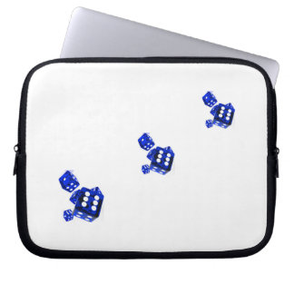 Blue dice computer sleeves