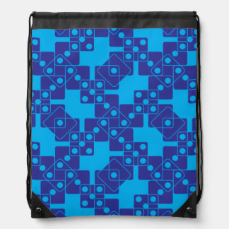 Blue Dice Drawstring Backpack