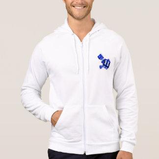 Blue dice hoodie