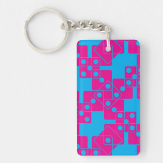 Blue Dice Keychain