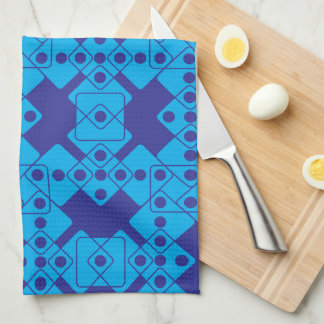 Blue Dice Hand Towels