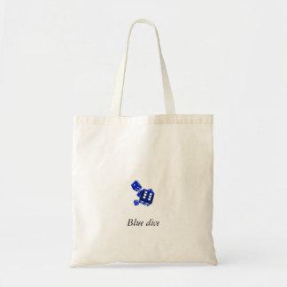 Blue dice tote bag