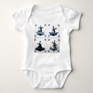 blue dig baby bodysuit