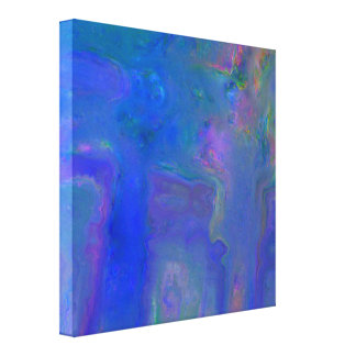 Blue Digital Abstract Canvas Wrap Print Gallery Wrapped Canvas