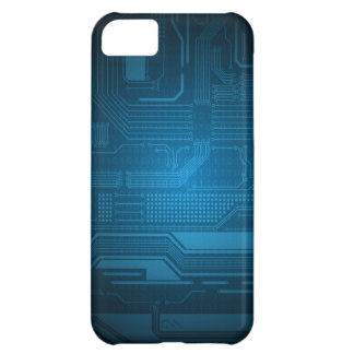 Blue Digital Binary Code Technology iPhone 5c Case
