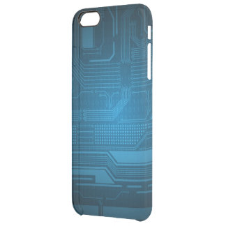 Blue Digital Binary Code Technology  Style Uncommon Clearly™ Deflector iPhone 5 Case