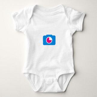 Blue digital camera baby bodysuit