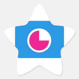 Blue digital camera star sticker