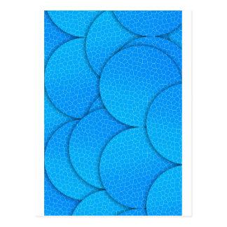Blue digital circles postcard