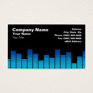 Blue Digital Equalizer LEDs Business Card
