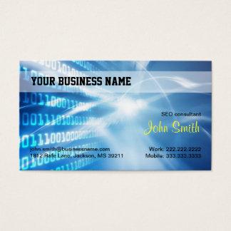 Blue Digital Hi-tech Business Card