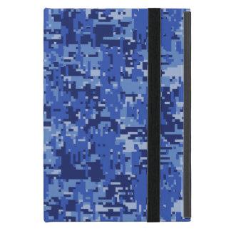 Blue Digital Pixels Camouflage Decor Texture iPad Mini Case