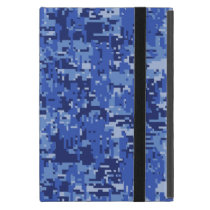 Blue Digital Pixels Camouflage Decor Texture iPad Mini Cover