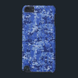 "Blue Digital Pixels Camouflage Decor Texture iPod Touch (5th Generation) Cover<br><div class=""desc"">A fine stylish custom gift idea in a vibrant modern digital navy blue pixels camouflage decor. Sounds good,  a great gift idea. You can customize it too,  just click on the blue &quot;CUSTOMIZE IT!&quot; button or link and add some Text easily.</div>"