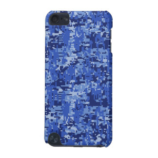Blue Digital Pixels Camouflage Decor Texture iPod Touch (5th Generation) Cover