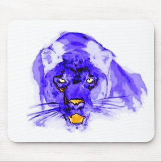 Blue Digital Pop Art Jaguar Mouse Pad