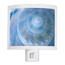 Blue Digital Seashell Bathroom Set Nightlight