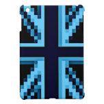 Blue Digitized Union Jack British Flag iPad case