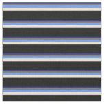 [ Thumbnail: Blue, Dim Grey, Cornflower Blue, Bisque & Black Fabric ]