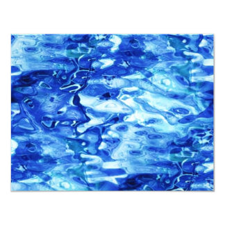 "blue_dimple_glass invitación 4.25"" x 5.5"""