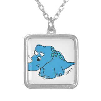 Blue Dino Necklace