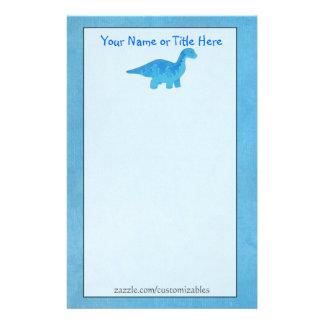 Blue Dino Stationery