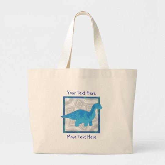 Blue Dino Tote