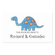 Blue Dinosaur Bookplates