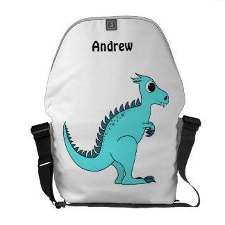 Blue Dinosaur Courier Bag